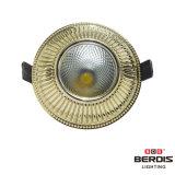 luzes de teto do diodo emissor de luz do ouro 3With5With7W com o radiador de alumínio de fundição