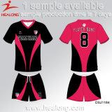 デジタル印刷の学校のチーム女の子のサッカージャージーを現れなさい