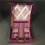 新しく贅沢なハンドメイドPUの革宝石箱