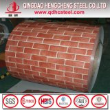 La couleur en bois de configuration de brique de PPGI a enduit la bobine en acier
