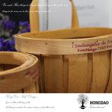 _L de madera de la cesta de la Navidad de Hongdao de pared de las decoraciones de encargo hechas a mano del colgante