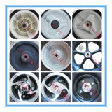 Rodas de espuma de PU pesados 10X4 para carros de ferramentas