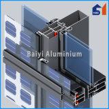 Aluminio del perfil de T para la sección de pared de cortina