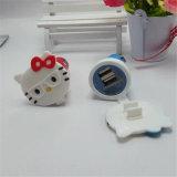 이중 USB 만화 차 충전기