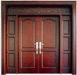 Puerta de madera interior con estilo americano
