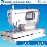 Máquina de coser industrial de Buttonholer del ojeteador electrónico (DK-580)