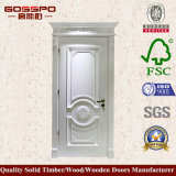 Modèles d'acajou de porte en bois solide de peinture blanche (GSP2-079)