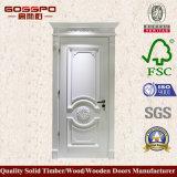 Weißer Lack-festes Holz-Tür-Mahagonientwürfe (GSP2-079)