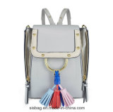 De alta qualidade PU Tassel Mulheres Mochila Zipper Double Shoulder Bag