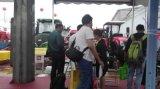 Pulverizador de motor diesel autopropulsado Aidi para campo enlameado