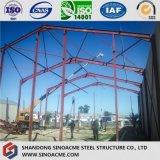 Instalación de la estructura de acero del almacén porta movible del marco