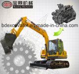 Excavador de la correa eslabonada del excavador hidráulico de China Baoding pequeño para la venta