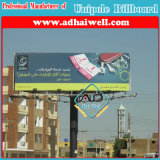 Doble cara Unipole Publicidad Billboard Steel Construction (W12 XH 4)