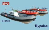 Pesca inflable costilla Barco, barco de la costilla militar, Hypalon costilla Barco