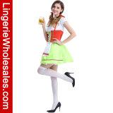 Oktoberfest 여자는 셰이퍼 공상 맥주 소녀 복장 Cosplay 복장을 위로 끈으로 묶는다
