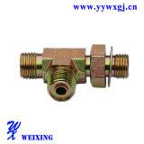 Type ajustage de précision hydraulique du té T de durites de matériel d'air convenable d'embout