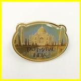 Pin plateado oro de la solapa con Taj Mahal la India