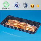 فراغ يشكّل بلاستيك يجمّد طعام يعبّئ صينية لأنّ يجمّد دجاجة لحمة مع لحمة [أبسربنت] كتلة