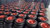 PU 4.80/4.00-8, borde de acero del neumático de la rueda de la carretilla con Alxe 20X360