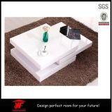 Tavolino da salotto bianco di lucentezza dell'elevatore del quadrato moderno di legno della parte superiore alto