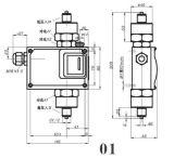530/7dd Bellow Type 반대로 Corrosive Gas Liquid Adjustable Explosionproof Differential Pressure Switch