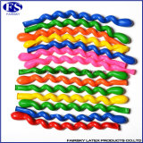 De hete Spiraalvormige Ballon van de Kleuren van de Verkoop Multi, de Verdraaide Ballon van het Latex