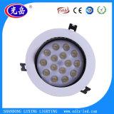 Luz de teto LED anti-incandescente 18W com potência total