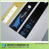 Vidrio Tempered de la venta al por mayor 5m m para la aplicación de cocina con la impresión de la pantalla de seda