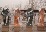 Escultura em quatro escultura de pedra de jardim com mármore de arenito (SY-X1128)