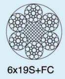 직류 전기를 통한 철강선 밧줄 6X19s+FC