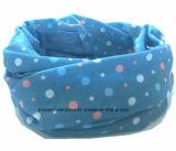 OEM de Afgedrukte Polyester Tubulaire Bleekgele Bandana van het Opbrengst Aangepaste Meisje van het Embleem Blauwe