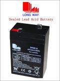 batterij van het Lood 6V2.8ah Emegency de Lichte Navulbare Verzegelde Zure UPS