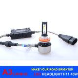 2017 farol novo H11 6000k do diodo emissor de luz da chegada 45W 6000lm A3 Canbus