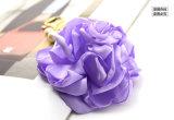 ラベンダーのピンクのリボンの花の真珠はペンダントのKeychainのリングをぶら下げる