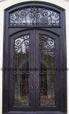 Elegante Entwurfs-bearbeitetes Eisen-Haustür mit Uropean Art
