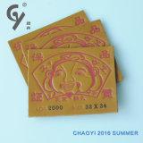 청바지와 수화물을%s Chaoyi PVC 레이블 가죽 레이블 PU 카드
