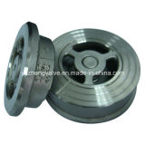 Válvula de cheque del disco de la oblea del acero inoxidable H71 Tpye