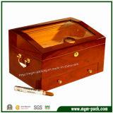 La fabricación de encargo de alto brillo de madera sólida de la caja de cigarros