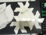 Telha de mármore branca barata da telha de assoalho do quarto do preço da forma da flor