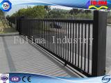 Galvanized&PVCは塗った溶接された鋼鉄塀か鉄の塀(FLM-FN-004)に