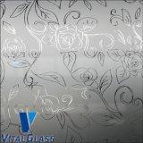 Arte decorativa pintada gravada ácido de vidro
