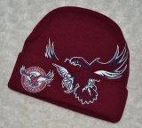流行の編まれた冬のカスタムジャカード帽子(002)