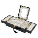 ロックおよびキーの管理の光沢度の高く黒い木製のFinshのボーイの腕時計及びカフスボタンの宝石箱及びオルガナイザーの記憶の箱