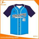Healongのカスタム青年カラー野球のワイシャツのソフトボールの野球のジャージ