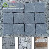 Il migliore prezzo all'ingrosso tutto parteggia pietra per lastricati del cubo nero naturale del granito per la via/strada privata