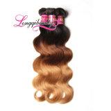 O volume relativo à promoção o mais novo do Weave do cabelo de Ombre do Virgin