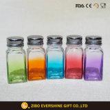 Farbiges Küche-Glaswürze-Glas für Salz und Pfeffer