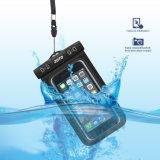 Sac imperméable à l'eau de téléphone de PVC de fonction extérieure universelle en gros de contact