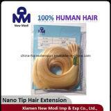 двойник 2g Nano-Наклоняет бразильское выдвижение/человеческие волосы волос девственницы