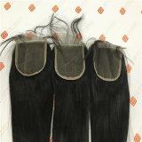 Верхнее закрытие шнурка ранга с бразильскими волосами девственницы